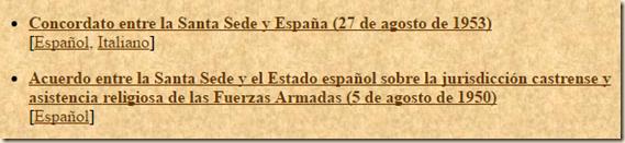 Concordatos con Franco