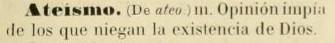 ateismo según el DRAE 1884